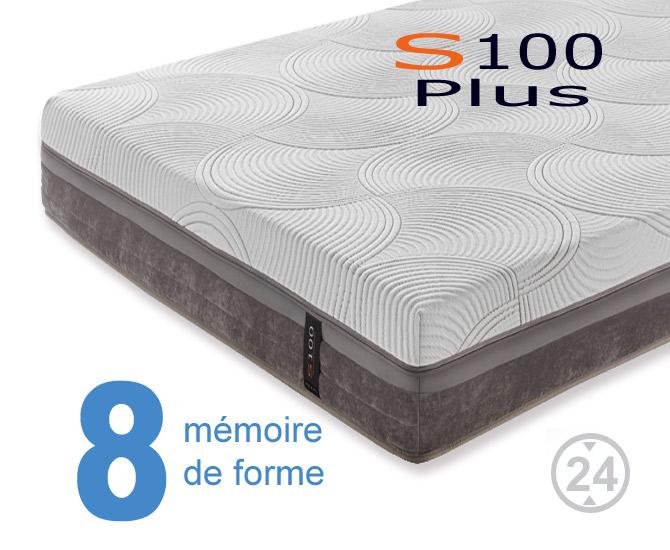 Matelas à mémoire de forme S100 Plus