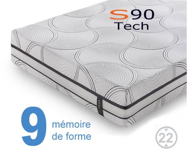 Matelas à mémoire de forme S90 Tech Viscogel